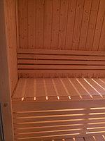 """Сборная финская сауна в частном доме. Индивидуальное изготовление. Размер = 2,0 х 1,5 х 2,1 м. Адрес: г. Алматы, к.г. """" Bella Villa"""". 7"""