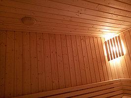 """Сборная финская сауна в частном доме. Индивидуальное изготовление. Размер = 2,0 х 1,5 х 2,1 м. Адрес: г. Алматы, к.г. """" Bella Villa"""". 8"""