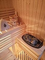 """Сборная финская сауна в частном доме. Индивидуальное изготовление. Размер = 2,0 х 1,5 х 2,1 м. Адрес: г. Алматы, к.г. """" Bella Villa"""". 13"""