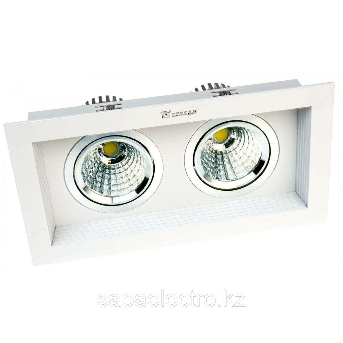 Свет-к DOWNLIGHT LED RS-2112C-2 2х10W 5700K(TS)18ш