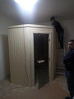 """Сборная финская сауна в частном доме. Индивидуальное изготовление. Размер = 2,0 х 1,5 х 2,1 м. Адрес: г. Алматы, к.г. """" Bella Villa"""". 19"""