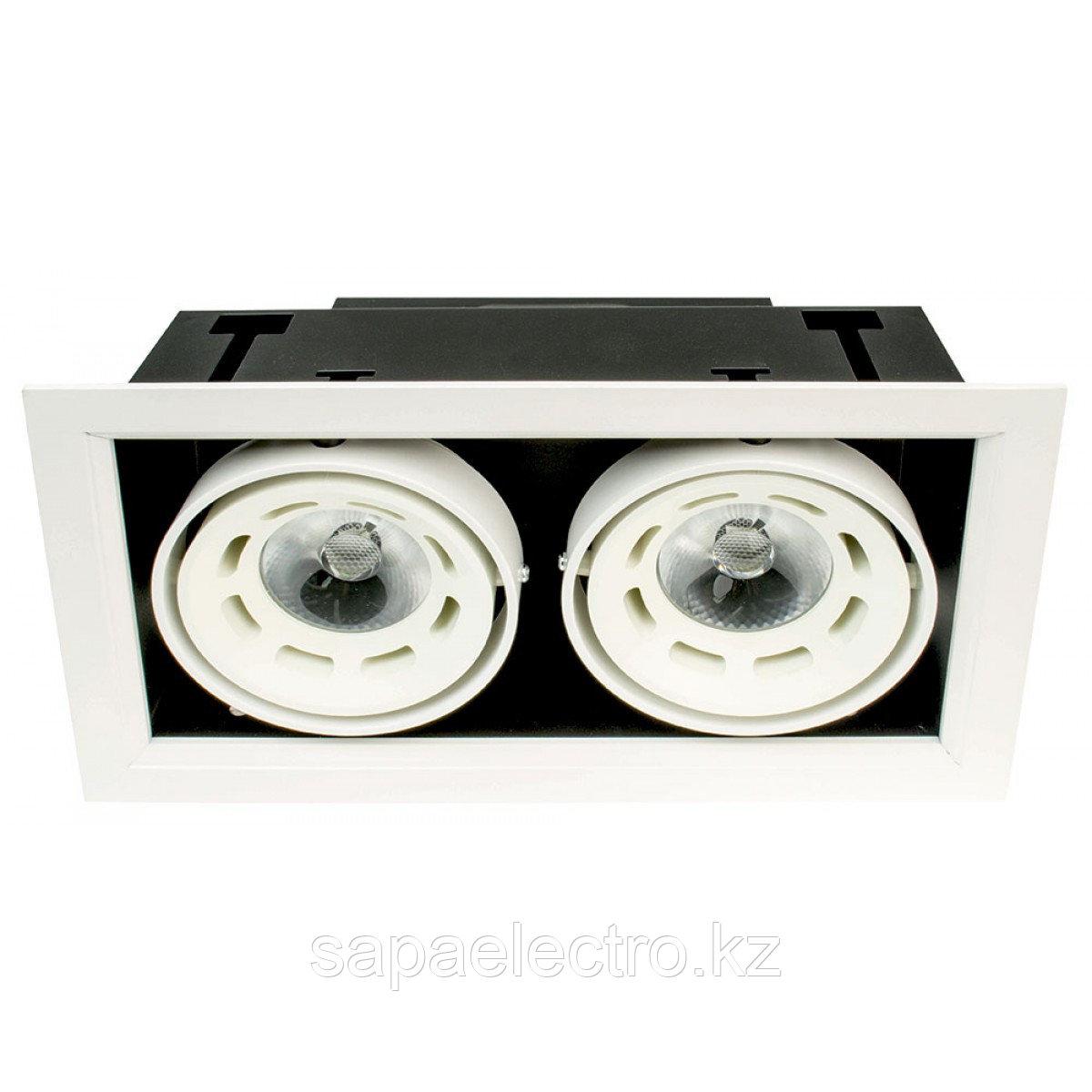 Свет-к DOWNLIGHT LED DD1218 2х8W WHITE5000K(TS)18