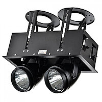 Свет-к DOWNLIGHT LED DK884-2 2х30W BLACK5700K(TS)6