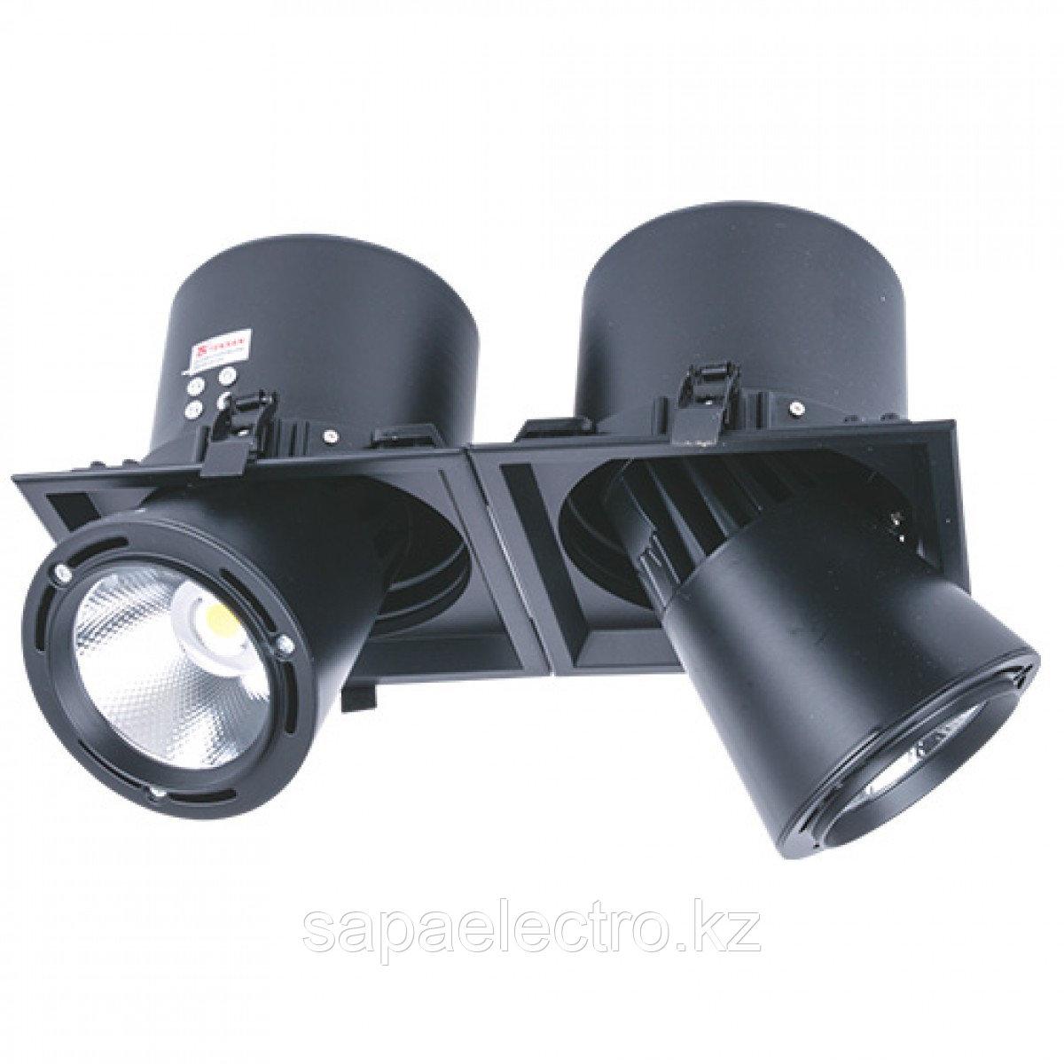 Свет-к DL LED LS-DK913-2 2x 40W BLACK 5700K(TS)4шт