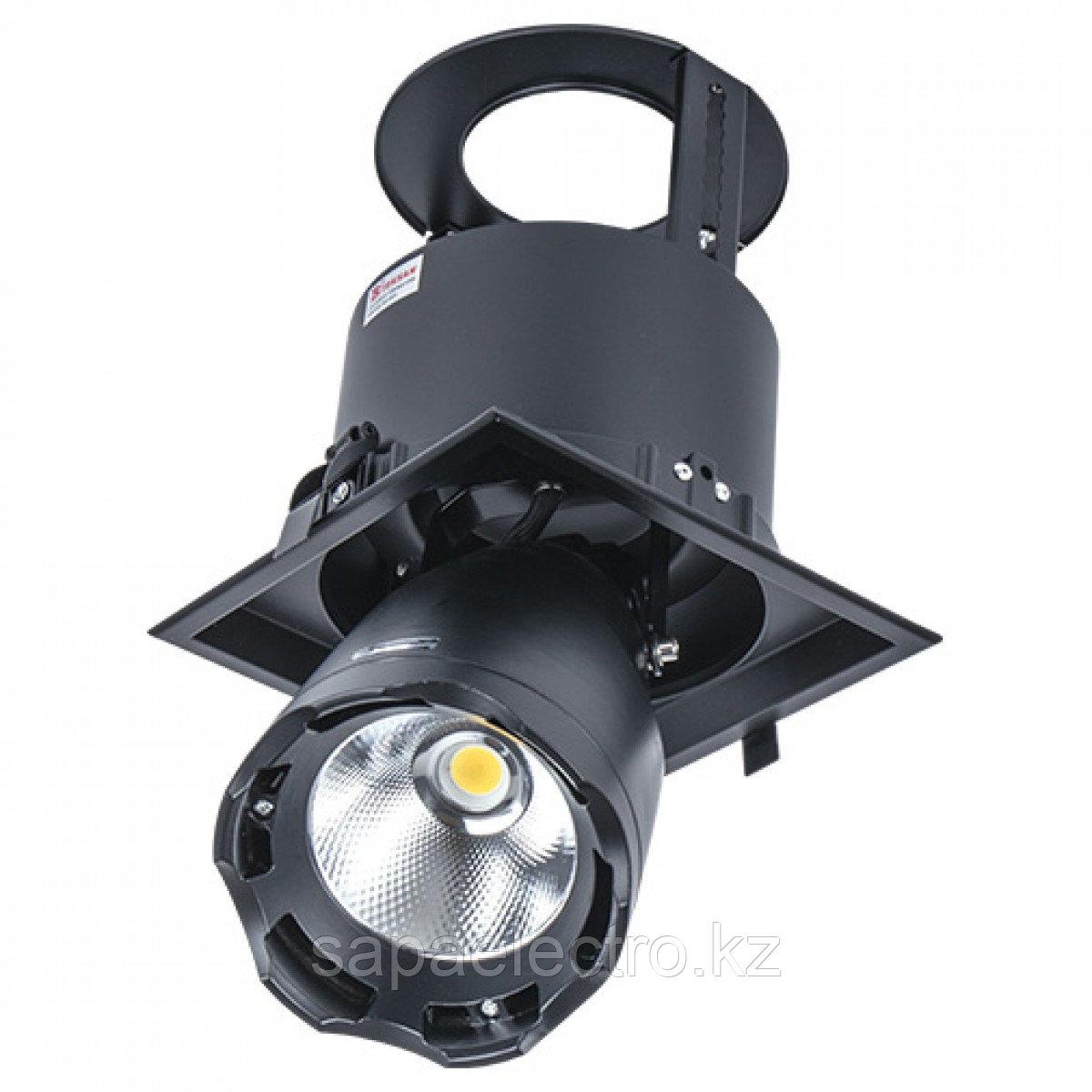 Свет-к DL LED LS-DK914-1 40W BLACK  5700K(TS)8шт