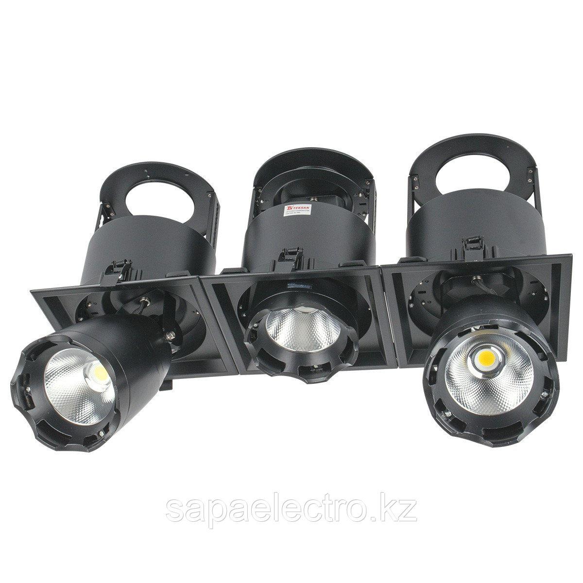 Свет-к DL LED LS-DK914-3 3x40W BLACK 5700K(TS)