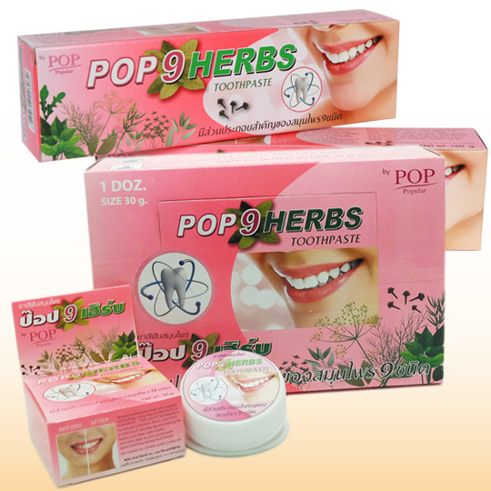 Зубная паста с экстрактами 9 трав Pop Herbs 9 Herbs Toothpaste 160