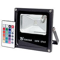 Прожектор LED FD1001 10W RGB BLACK IP65  (TS) 40шт