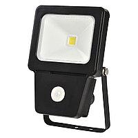 Прожектор LED COB SENSOR 10W BLACK 6000K  (TS)36шт