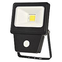 Прожектор LED COB SENSOR 20W BLACK 6000K  (TS)28шт