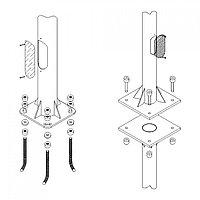 Подземн.крепления для столбов H-7м 80х114 MGL