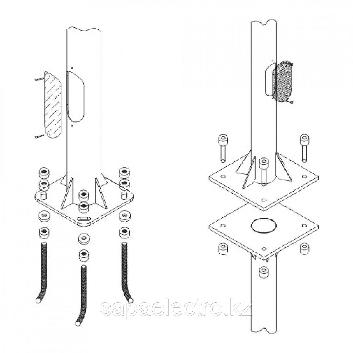 Подземн.крепления для столбов H-12м 2х160 MGL