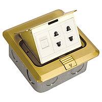 DCT-628/GBX GOLD напольн.роз-компx1,розетx2 (TS)20ш