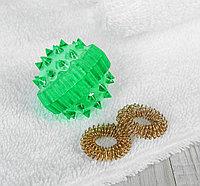 """Массажер """"Массажный шарик"""" для интересного воздействия в комплекте с двумя кольцевыми пружинами, цве, фото 1"""