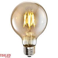 Лампа LED G95 4W AMBER E27 2700K  220V (TL) 50шт