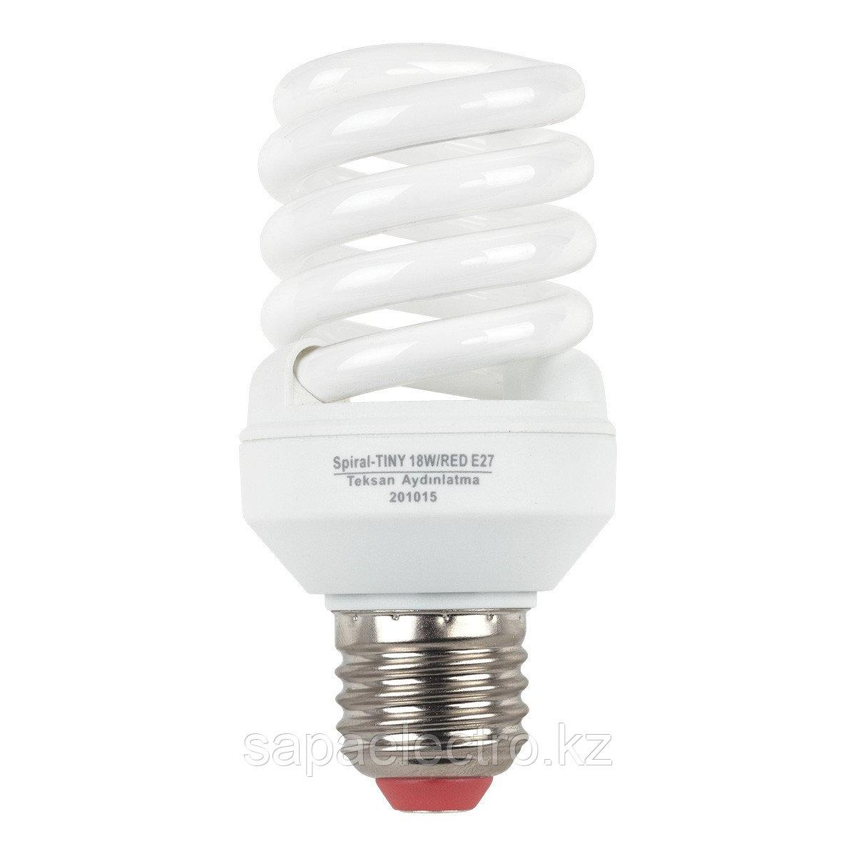 Лампа SPIRAL TINY  18W   E27  RED (TL) 100шт