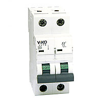 4VTB-2C50  Автомат 2P  50A B-C  4,5KA   (VIKO)60шт