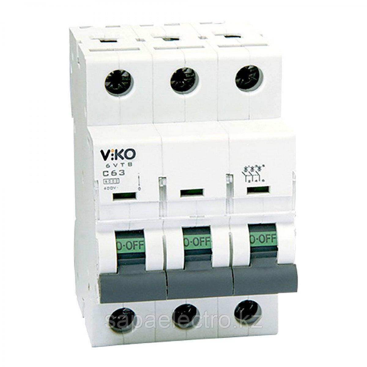3VTB-3B63  Автомат 3P  63A  3KA  B-C  (VIKO)40шт