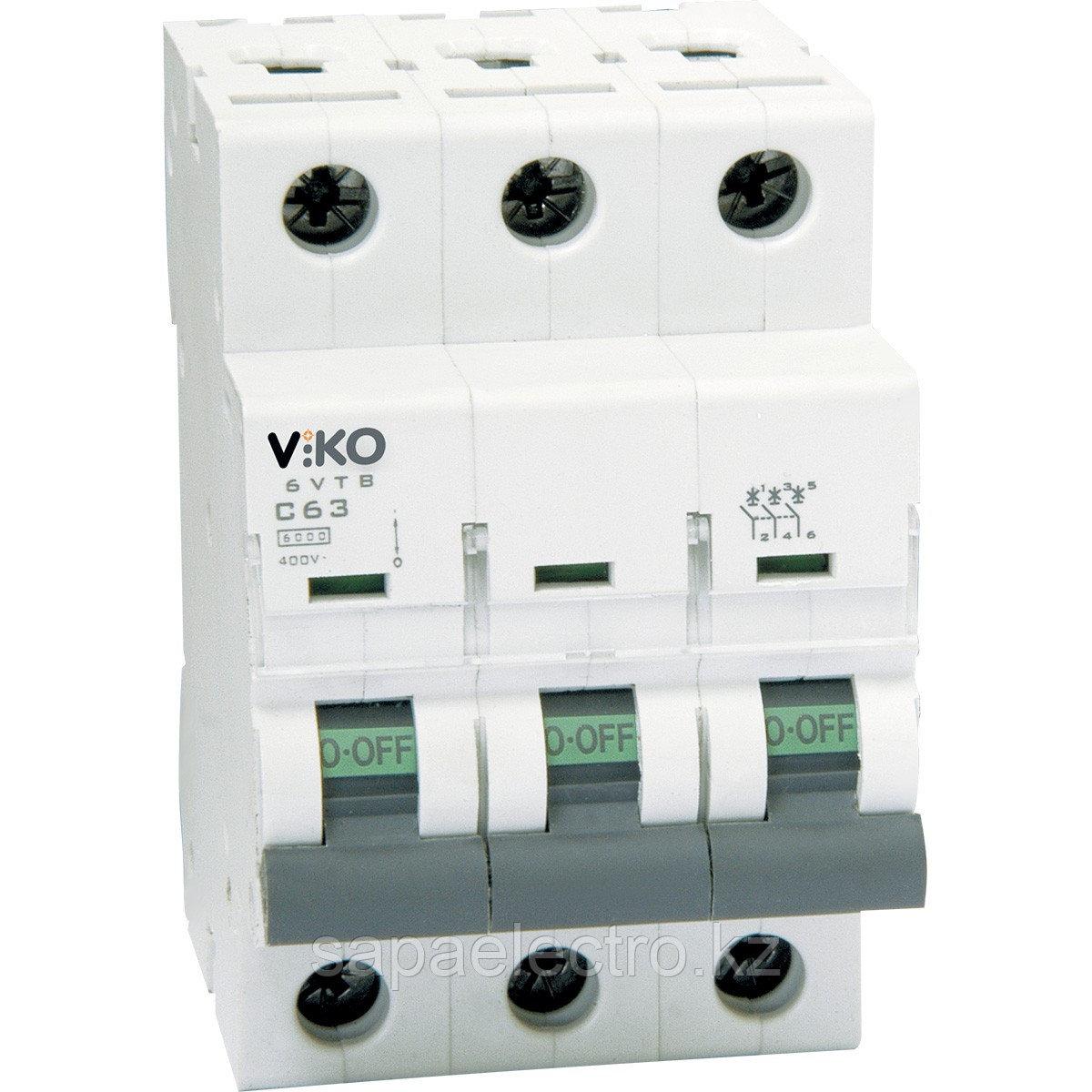 4VTB-3C40  Автомат 3P  40A  4,5KA  B-C  (VIKO)80шт