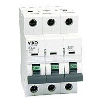 4VTB-3C63  Автомат 3P  63A  4,5KA  B-C  (VIKO)40шт