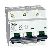 10VTB-3С100  Автомат 3P  100A  10KA  B-C   (VIKO)