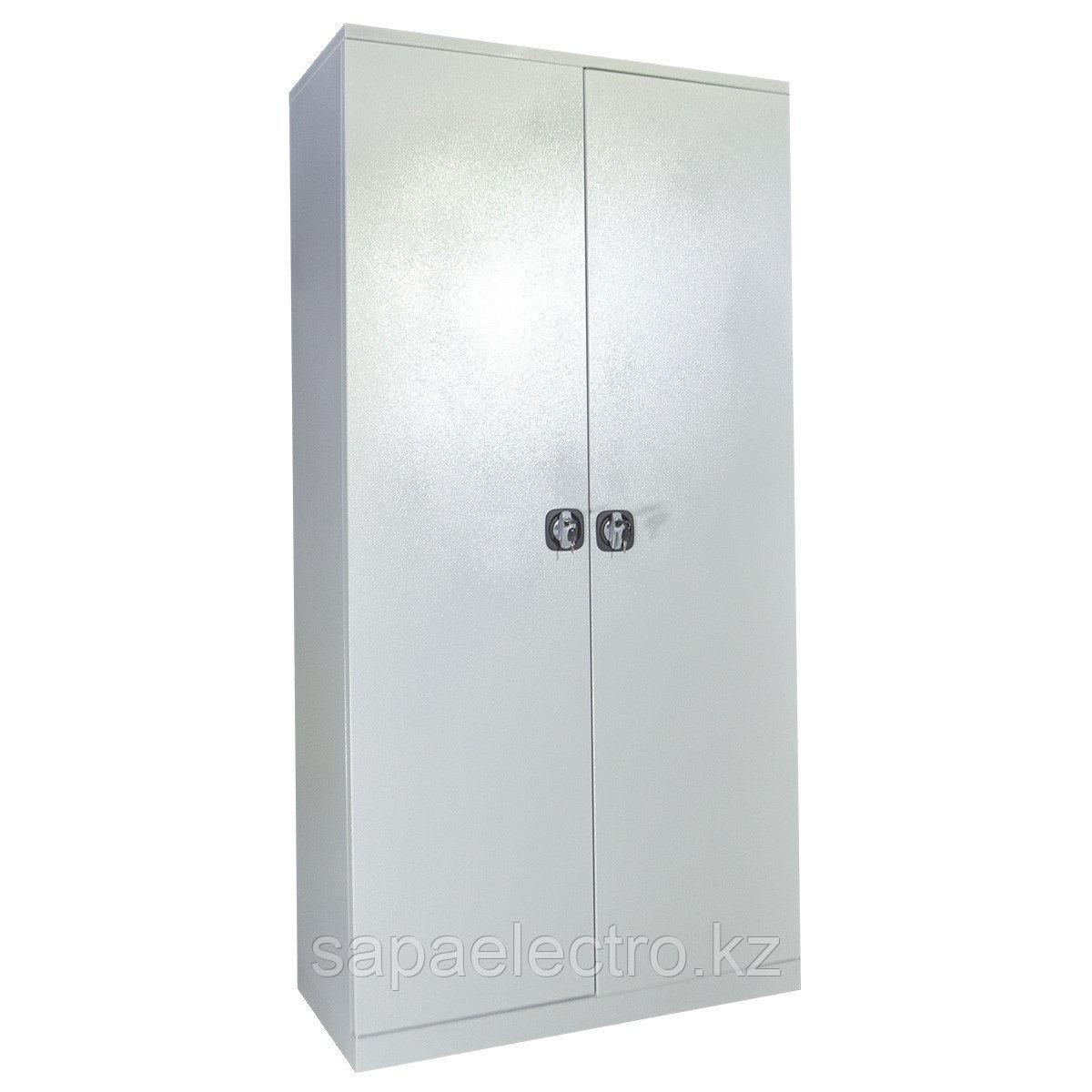 Металл.Шкаф 2-х корп.4полки/2перекладины(1000x2000x