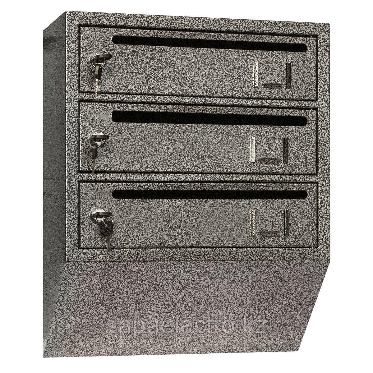Металл.Почтовый ящик вертикальный 3-х секционный РК