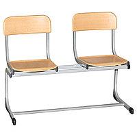 Школьные стулья 2LI (двойные) H-340мм Модель1 MGL (