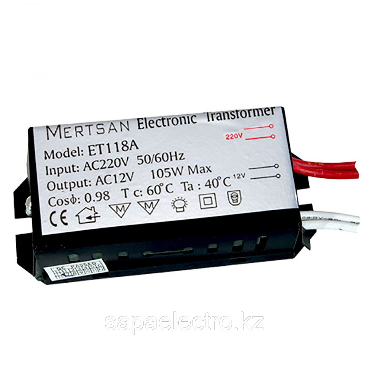 TRANSFORM. ELEKTR. ET-118A 12V/105W (100шт) (MS)