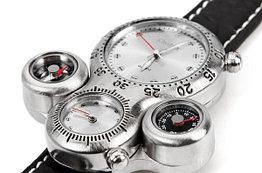 Часы Oulm 1149 из авиационного алюминия