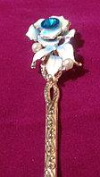 """Японская палочка-шпилька для волос""""Голубая Роза"""", фото 1"""