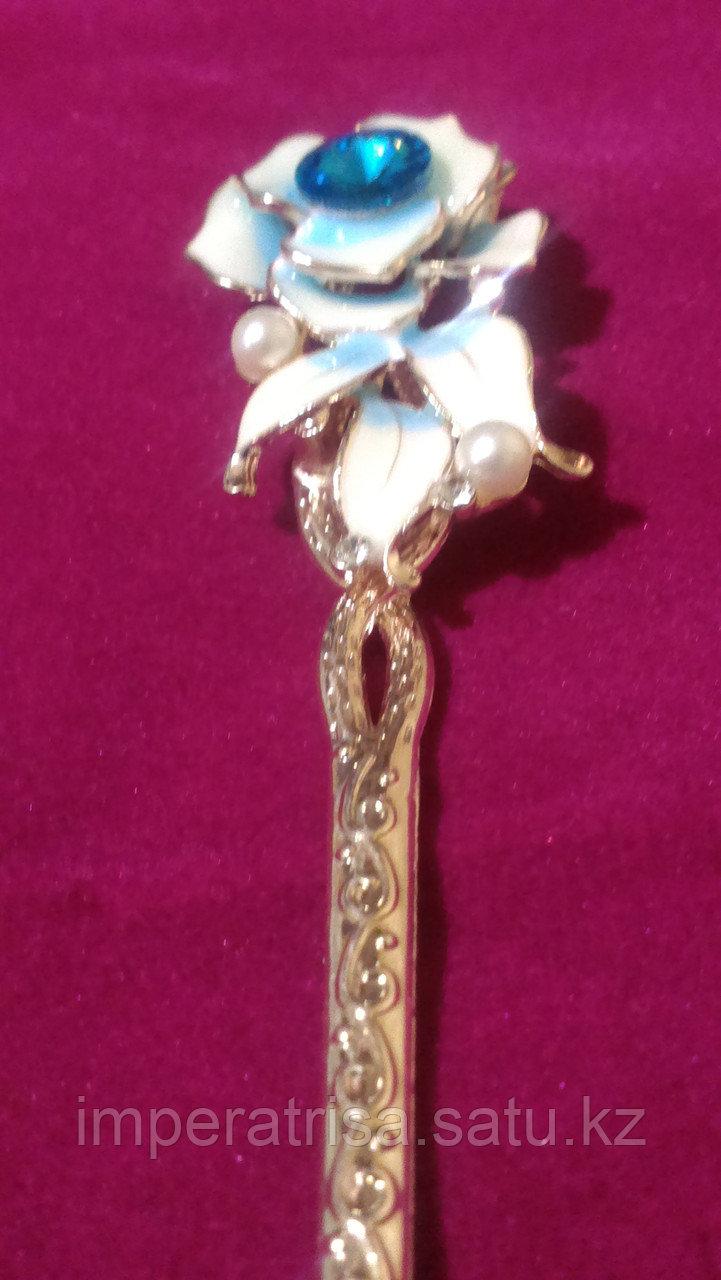 """Японская палочка-шпилька для волос""""Голубая Роза"""""""