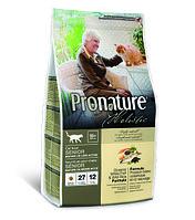 Pronature Holistic Senior сухой корм для пожилых кошек от 10 лет, с океанической белой рыбой и рисом 2.72кг.