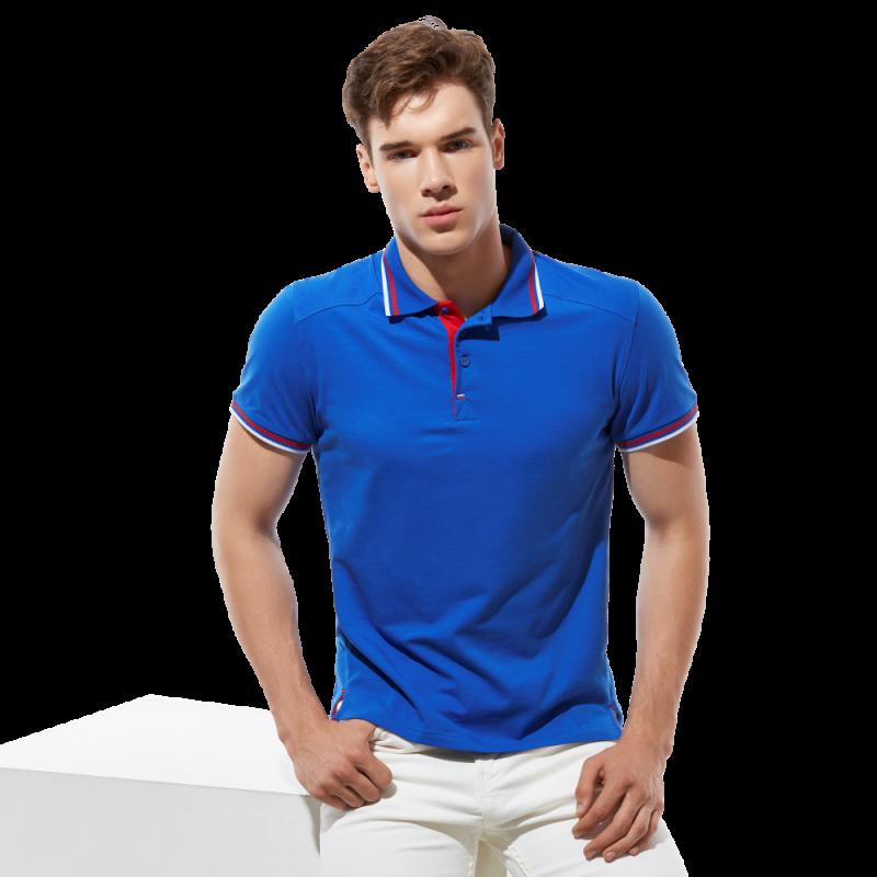 Стильная рубашка поло , StanSalute, 05RUS, Синий (16), M/48