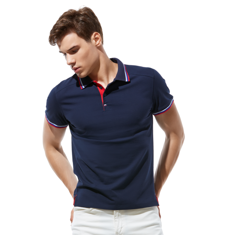 Стильная рубашка поло , StanSalute, 05RUS, Тёмно-синий (46), XL/52