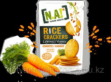 "Рисовые крекеры с морковью ТМ ""NAI"" ,70 грамм производство Тайланд"