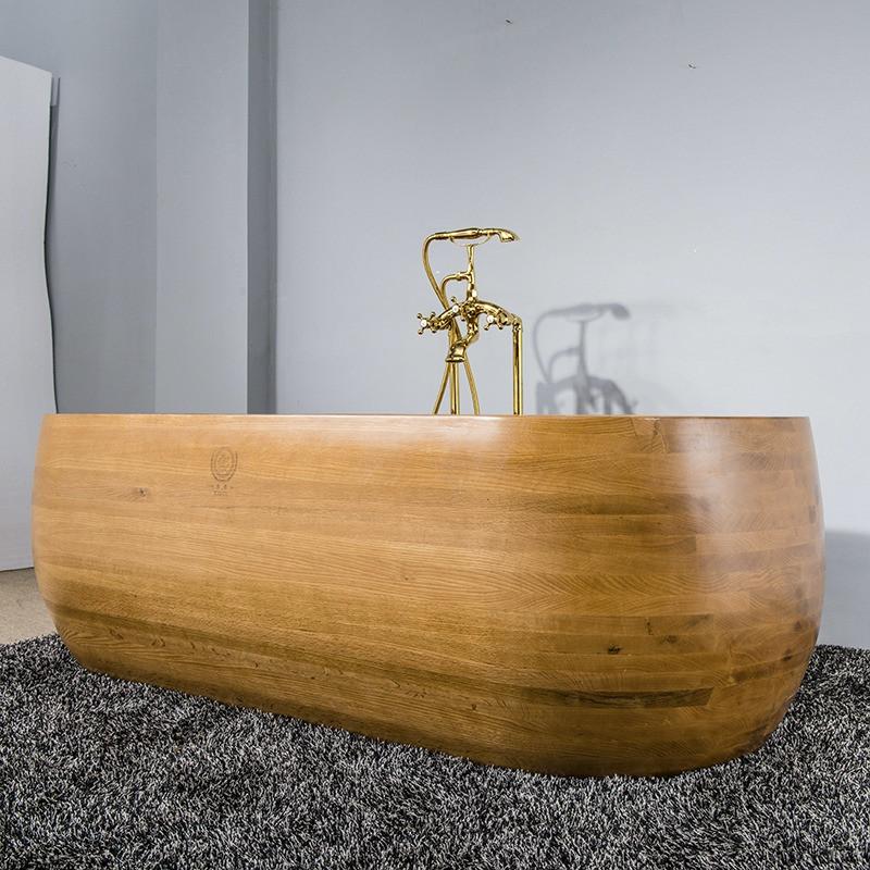 Овальная ванна из дуба