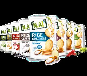 """Крекеры(Чипсы) из жасминового риса изготовленные в тайланде, торговой марки """"N.A!"""""""