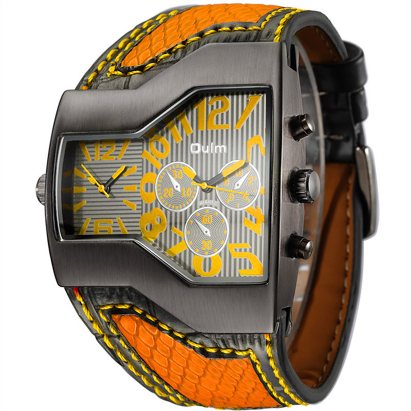 Часы Oulm 1220 Крокодил