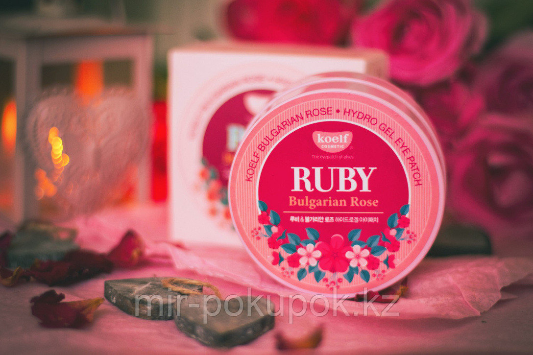 Гидрогелевые патчи Petitfee Koelf Hydro Gel Ruby & Bulgarian Rose Eye Patch, Алматы