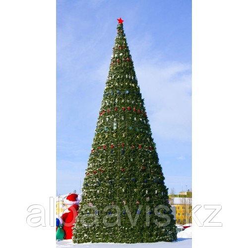 Искусственная каркасная елка Астана, хвоя-пленка 15 м (диаметр 6,6 м)