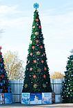 Искусственная каркасная елка Астана, хвоя-пленка 15 м (диаметр 6,6 м), фото 7