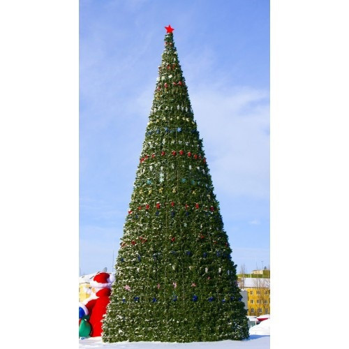 Искусственная каркасная елка Астана, хвоя-пленка 25 м (диаметр 11 м)
