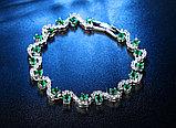 """Браслет с кристаллами """"Alcazar green"""", фото 4"""