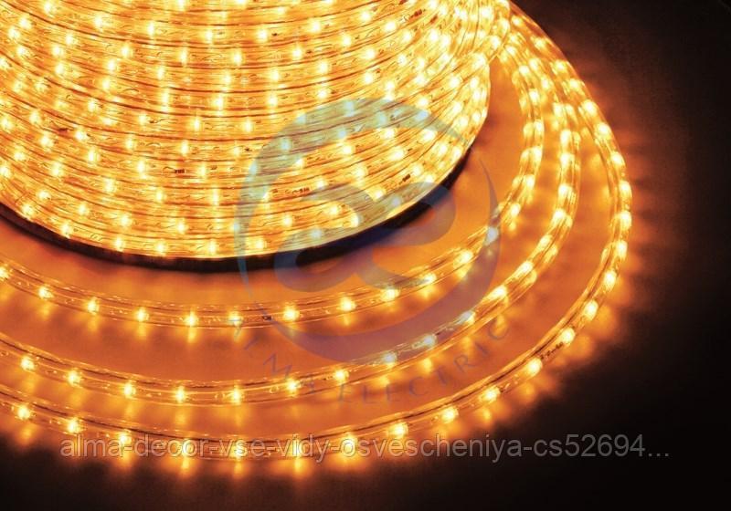 Дюралайт LED, постоянное свечение (2W) - желтый, 30 LED/м, бухта 100м