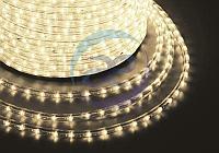 Дюралайт LED, постоянное свечение (2W) - ТЕПЛЫЙ БЕЛЫЙ Эконом 24 LED/м , бухта 100м, фото 1