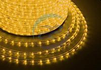 Дюралайт LED, свечение с динамикой (3W) - желтый, 36 LED/м, бухта 100м, фото 1