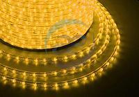 Дюралайт LED, эффект мерцания (2W) - желтый, 36 LED/м, бухта 100м, фото 1