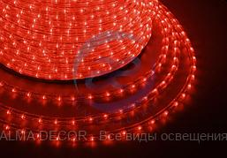 Дюралайт LED, эффект мерцания (2W) - красный, 36 LED/м бухта 100м