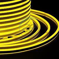 Гибкий Неон LED SMD, компактный 7х12мм, двухсторонний, жёлтый, 120 LED/м, бухта 100м